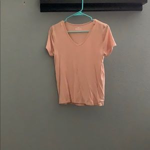 Pink Hollister V neck